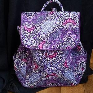 Vera Bradley Drawstring Backpack Lilac Tapestry